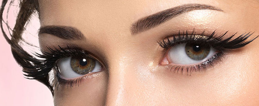 Wimperndesign, Wimpernverlängerung, Naturell-, Mascara Look